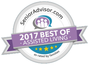 Hunter Station 2017 Best of Senior Living Badge