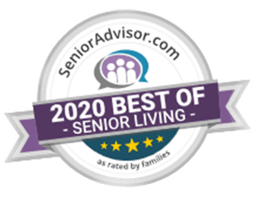 Hunter Station 2020 Best of Senior Living Badge